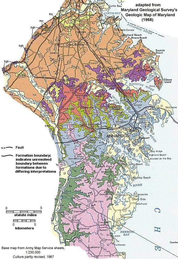 Geologic Maps of Maryland Anne Arundel County