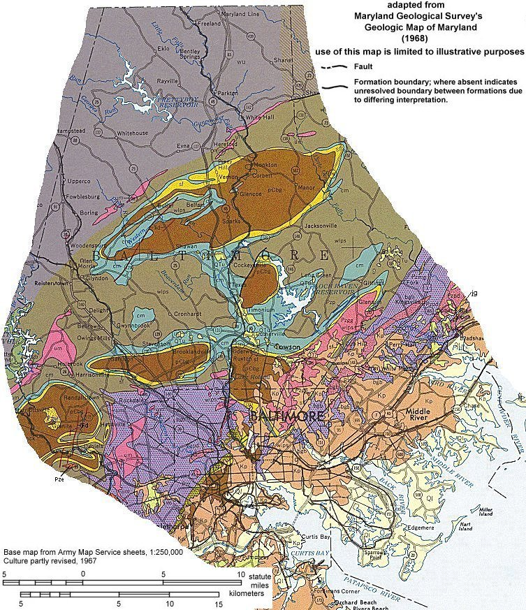 Geologic Maps of Maryland: Baltimore County on census bureau maps, geological map for flint, topographic survey maps,