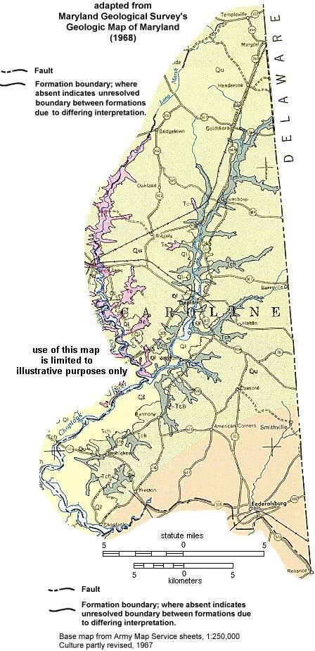 Geologic Maps of Maryland Caroline County