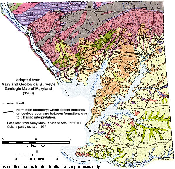 Geologic Maps of Maryland Cecil County