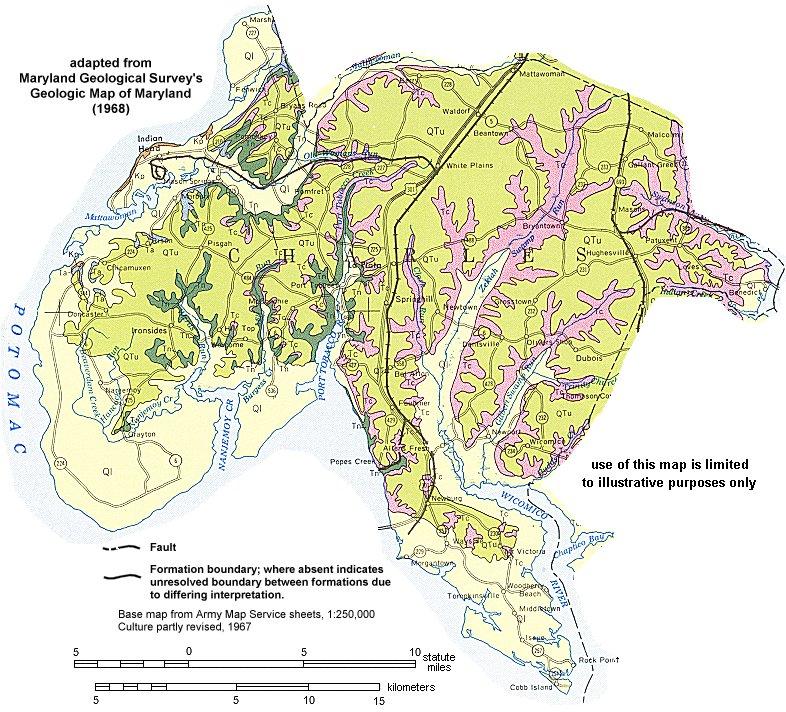 Geologic Maps Of Maryland Charles County