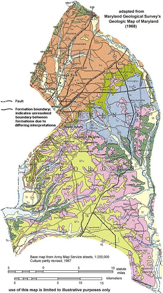 Geologic Maps of Maryland Prince Georges County