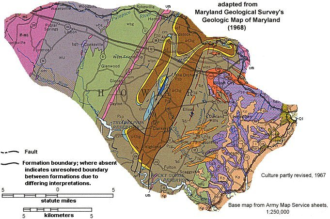 Geologic Maps of Maryland Howard County