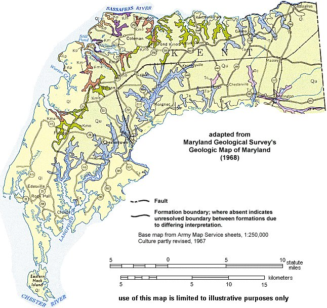 Geologic Maps of Maryland Kent County