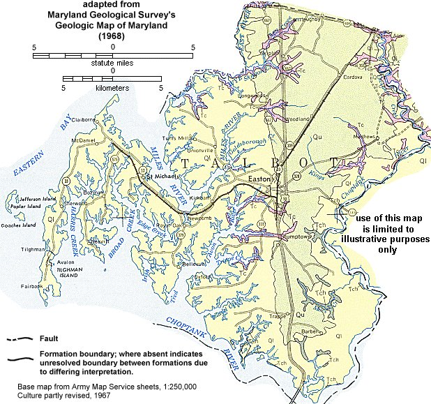 Geologic Maps of Maryland Talbot County