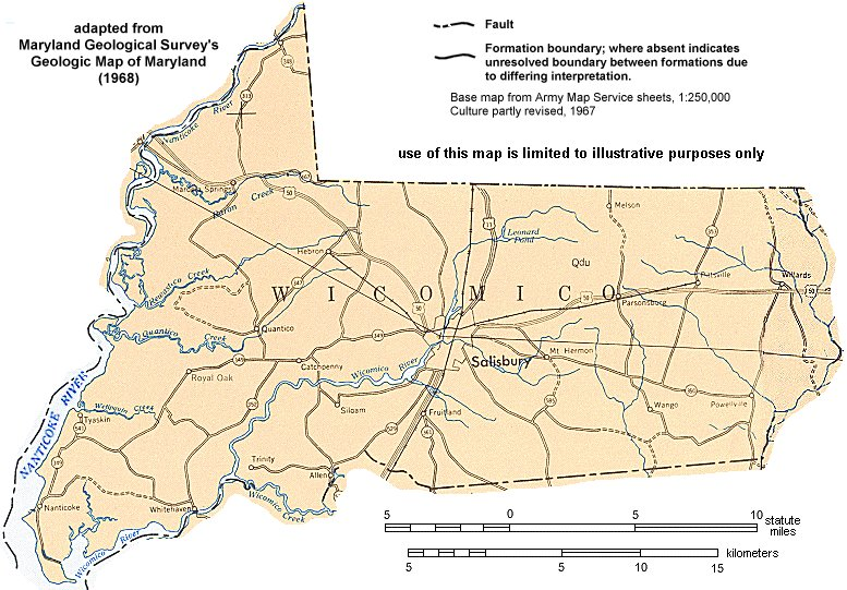 Geologic Maps of Maryland Wicomico County