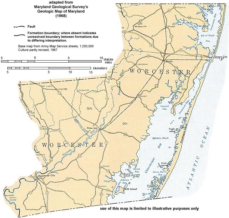 Geologic Maps of Maryland Worcester County