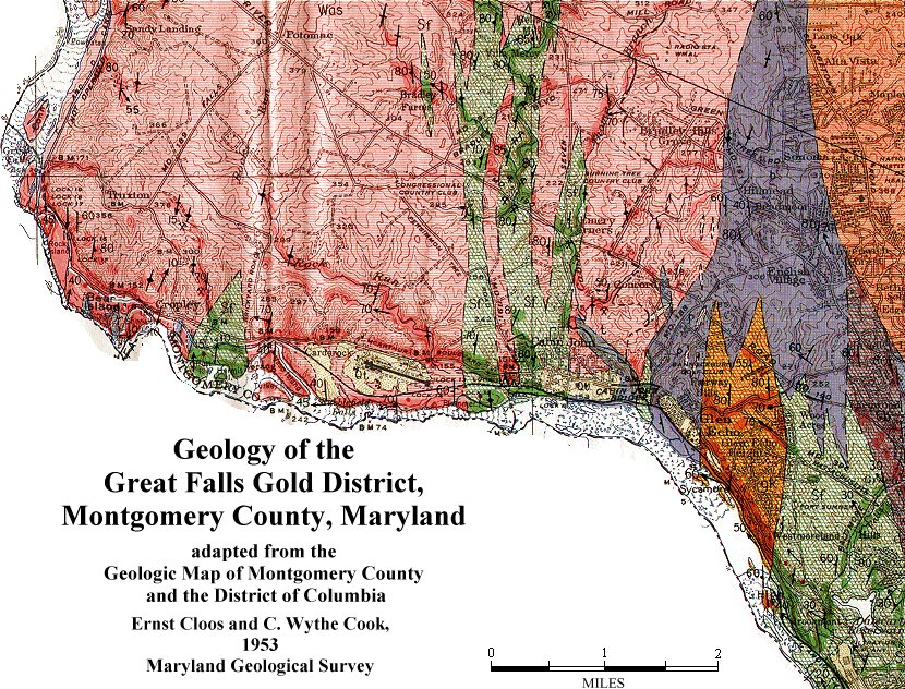 Geologic Maps of Maryland: Great Falls gold district, Montgomery ...
