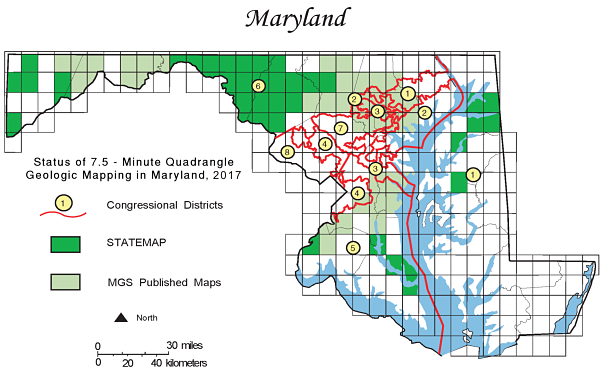 Maryland STATEMAP Coverage, 2017
