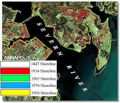 Shoreline Change Map Example