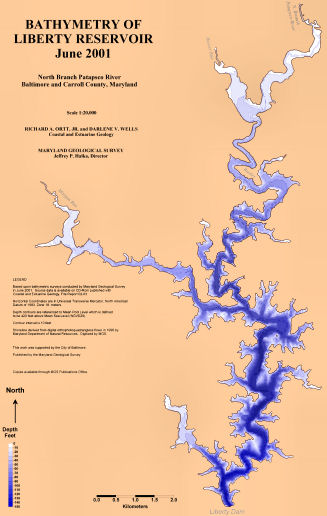 Liberty Resevoir Bathymetric Map
