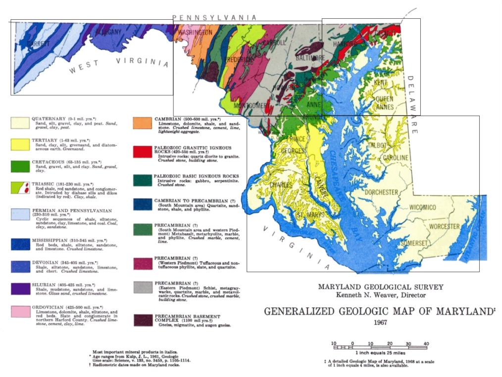 Generalized Geologic Map of Maryland