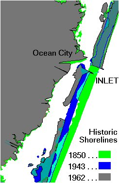 Successive shoreline map