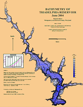 Triadelphia Resevoir Bathymetric Map
